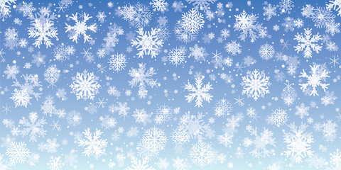 Blue snowflake background - stock vector