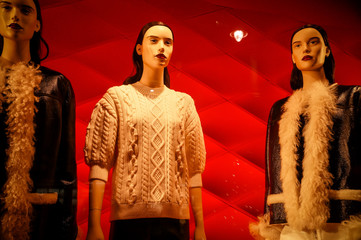 Fashion mannequins dressed in woman casual clothes