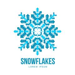 Snowflake vector logo