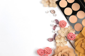 Beauty Blog, Makeup products, on light background