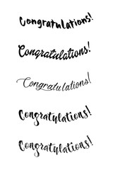 Congratulations lettering. Calligraphy handwritten phrase for your design.