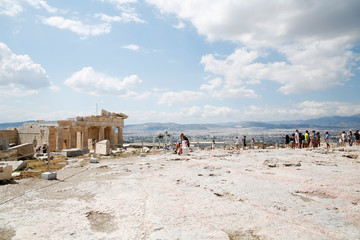 Athens,Acropolis,Greece,Europe - 18/07/2017 : Acropolis in Athens on a very hot summer day.