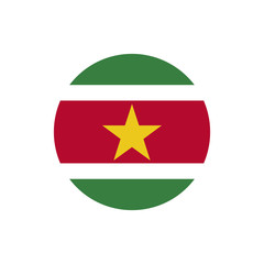 Suriname flag, official colors and proportion correctly.