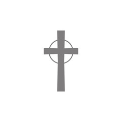 Religious cross icon. Simple web black icon, can be used as web element icon