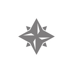 Eight point star icon. Simple web black icon, can be used as web element icon