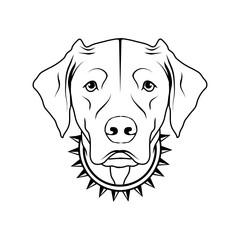Labrador dog icon.Dog collection