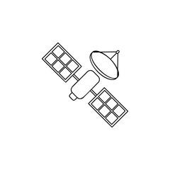 sattelite vector line icon