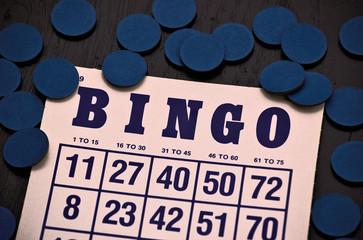 Bingo card close up