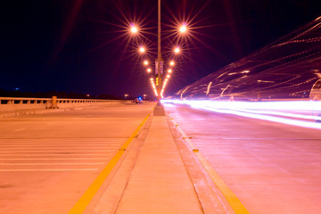 Road with long exposure.