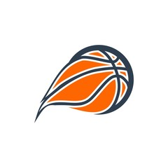 unique basketball logo. editable. vector