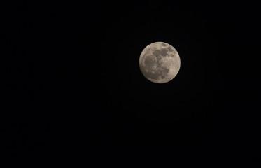 Super full moon in night sky,Blue moon or full moon on festival