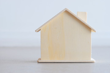 Still image of Wooden house model