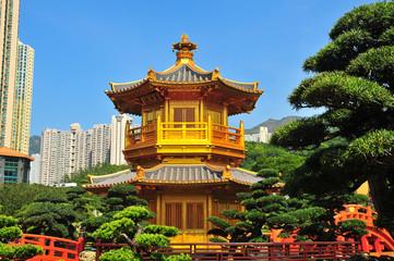 Chinese Pavilian in Nan Lian Garden, Hong Kong