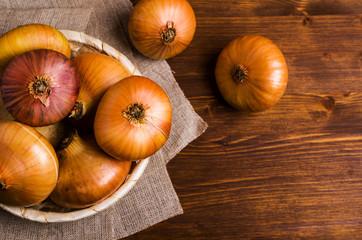 Raw large onion