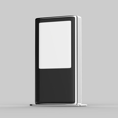 Blank Mock up Banner Stand Media Display Signage, Outdoor Advertising Poster stand Mock up. 3d illustration