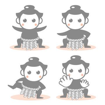 絵文字アイコン4セット・力士