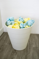 crumpled Paper Ball in bin