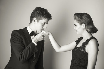 Good manners - to kiss the girl's hand?