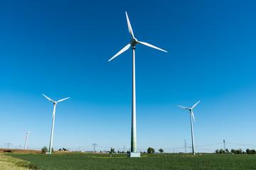 Wind power plant seen in Germany