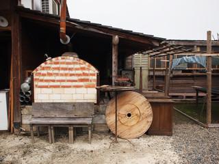 ピザ窯 アンティーク 田舎暮らし