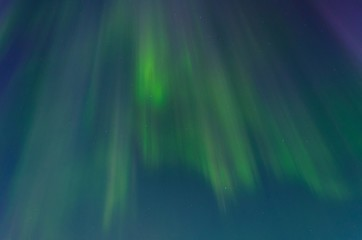 Aurora,Northern lights in the sky night and the stars .