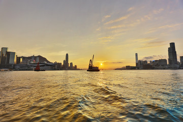 the Victoria Harbour Gateway between island kowloon