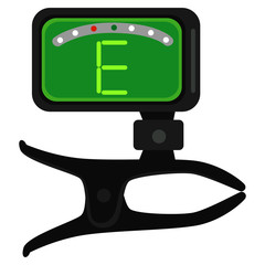 Vector Illustration of Guitar Tuner