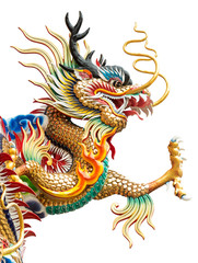 Chinese golden dragon statue
