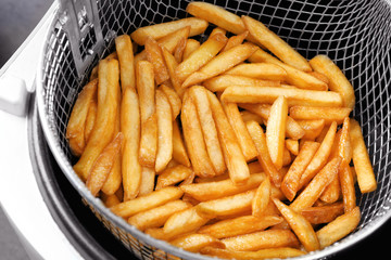Cooking french fries in chip fryer
