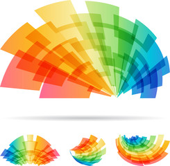 Colorful set abstract element isolated on white background