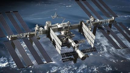 International Space Station, satellite, orbiting Fotoväggar