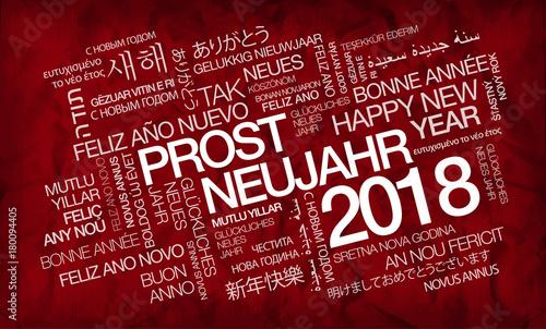 Prosit Neujahr 2016 internationalen traduction Farben tag cloud ...