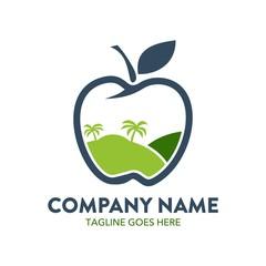 apple logo. editable. vector