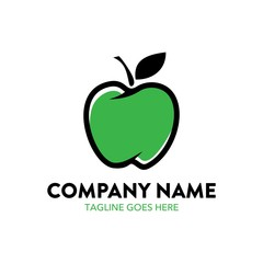 apple logo. editable. vector
