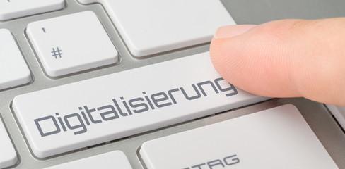 Tastatur mit beschrifteter Taste - Digitalisierung