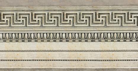 hellenistisches Muster auf historischer Fassade