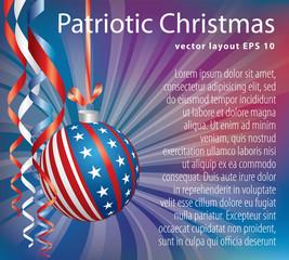 purple Patriotic Christmas