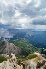 Fototapete - beautiful mauntain landscape in Italian Dolomites Alps. Passo Pordoi. South Tyrol. Italy