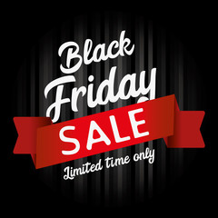 Black Friday Sale graphic with dark background