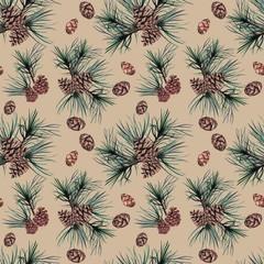 Watercolor Christmas seamless pattern.