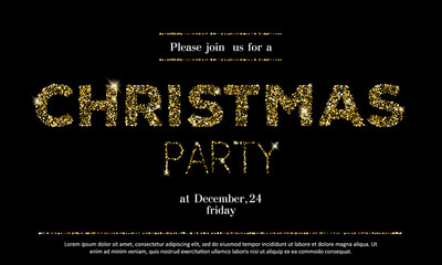 Christmas party invitation template.