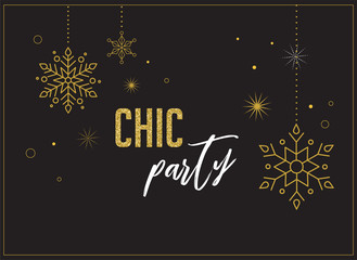 Fireworks and celebration background, chic party invitation design