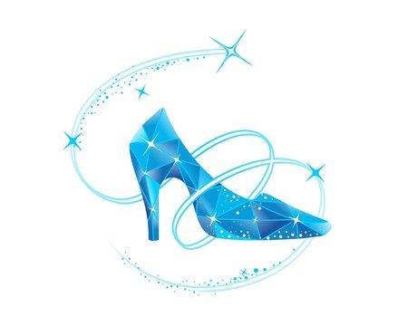 Cinderella crystal slipper