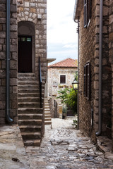 The streets of the old city of Ulcinj, Montenegro.