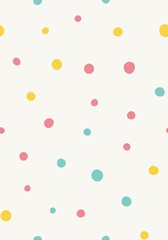 Seamless pattern. Multi-colored circles on a light background. Vector repeating texture.