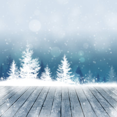Snow Winter Wood