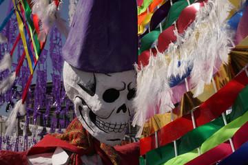 MEXICO CITY, MEXICO - NOVEMBER 5 2017 - Day of dead celebration