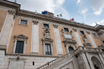 Roman Capitoline Hill (Italian: Campidoglio) facade. It is the official building of Rome's civic government