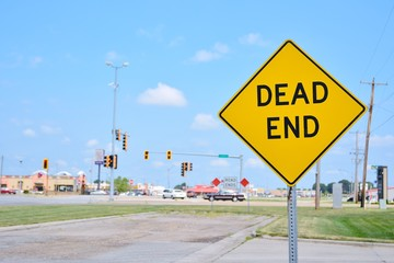 Dead End sign on the city.