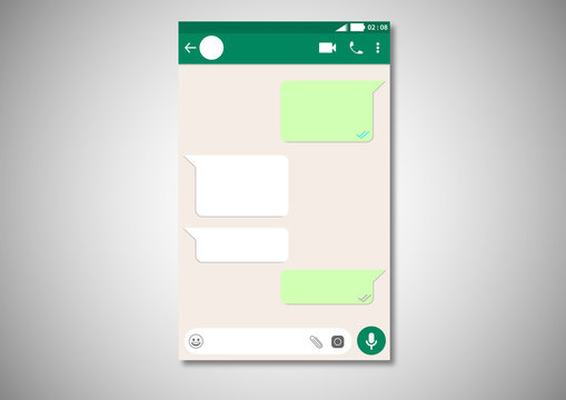 Whatsapp user interface. Mobile app ui ux template